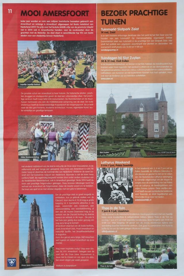 Pagina 11 van Recreatiekrant Regio Utrecht, Editie juni-juli 2015