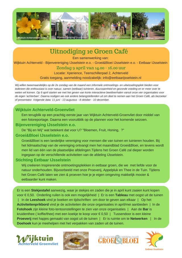 Uitnodiging 1e Groen Café - EIJ