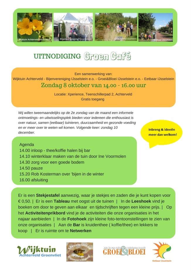 Uitnodiging Groen Café 8okt17