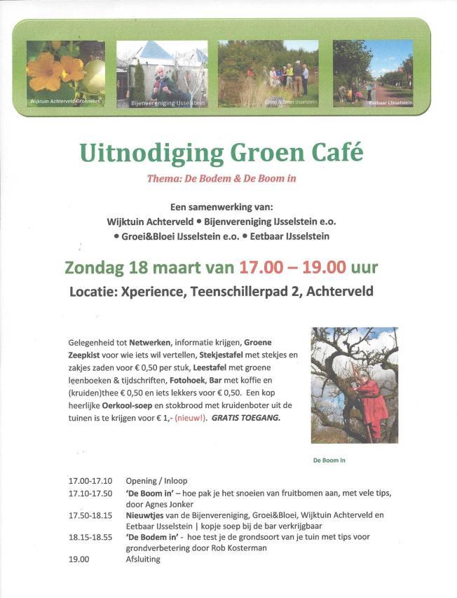 Uitnodiging Groen Cafe 18mrt18