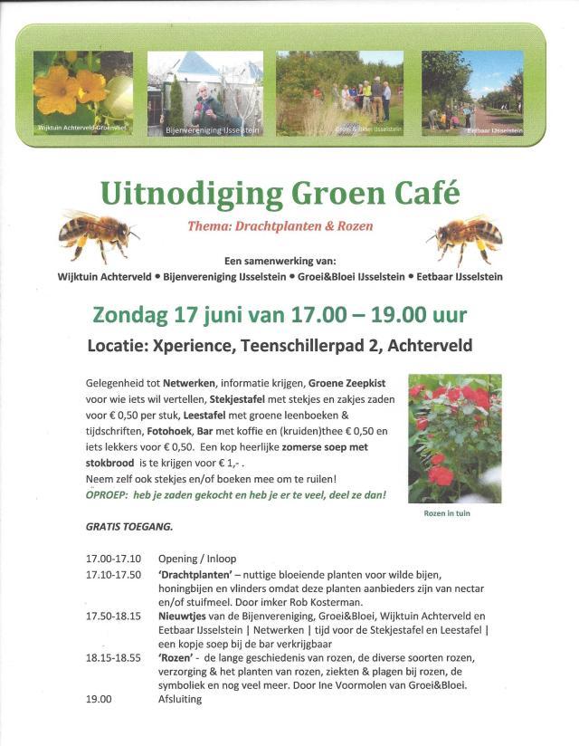 Uitnodiging Groen Cafe 17jun18