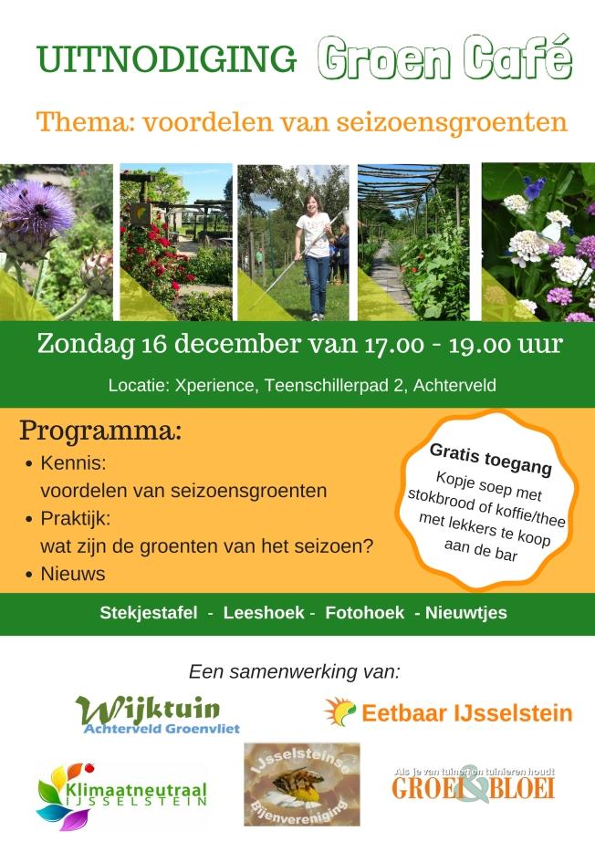 Uitnodiging Groen Café 16dec18