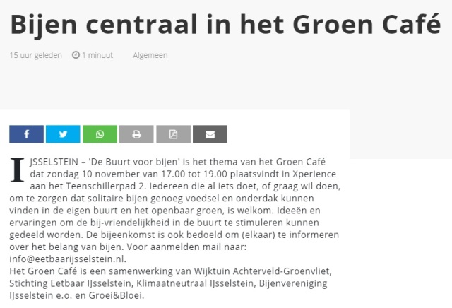 Bijen centraal in GC - 6nov19