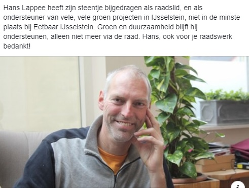 Hans Lappee 25 jaar raadslid